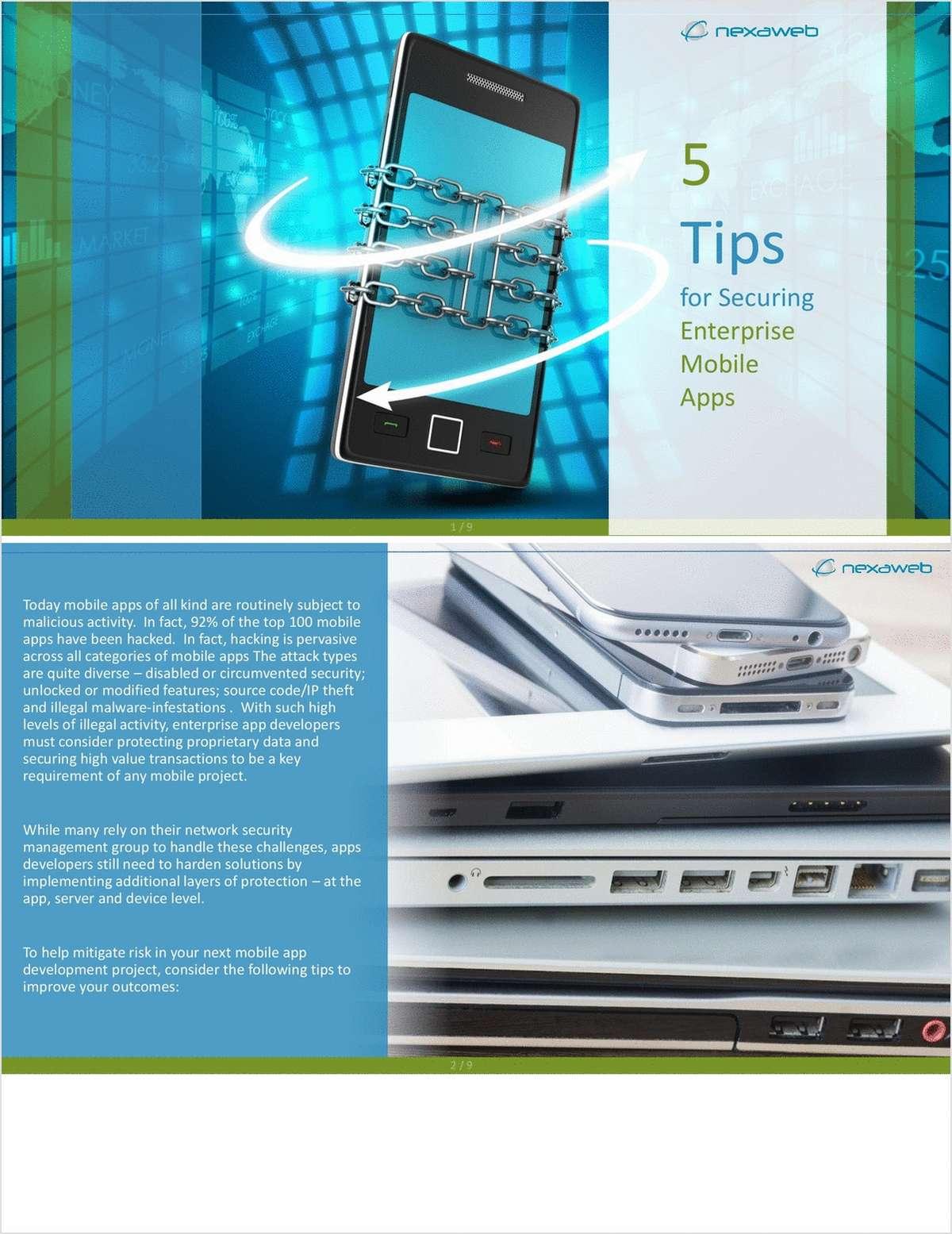5 Tips for Mitigating Risk in Your Mobile App Development