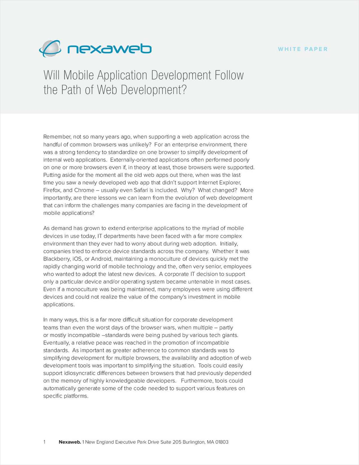 Will Mobile Application Development Follow The Path Of Web Development?