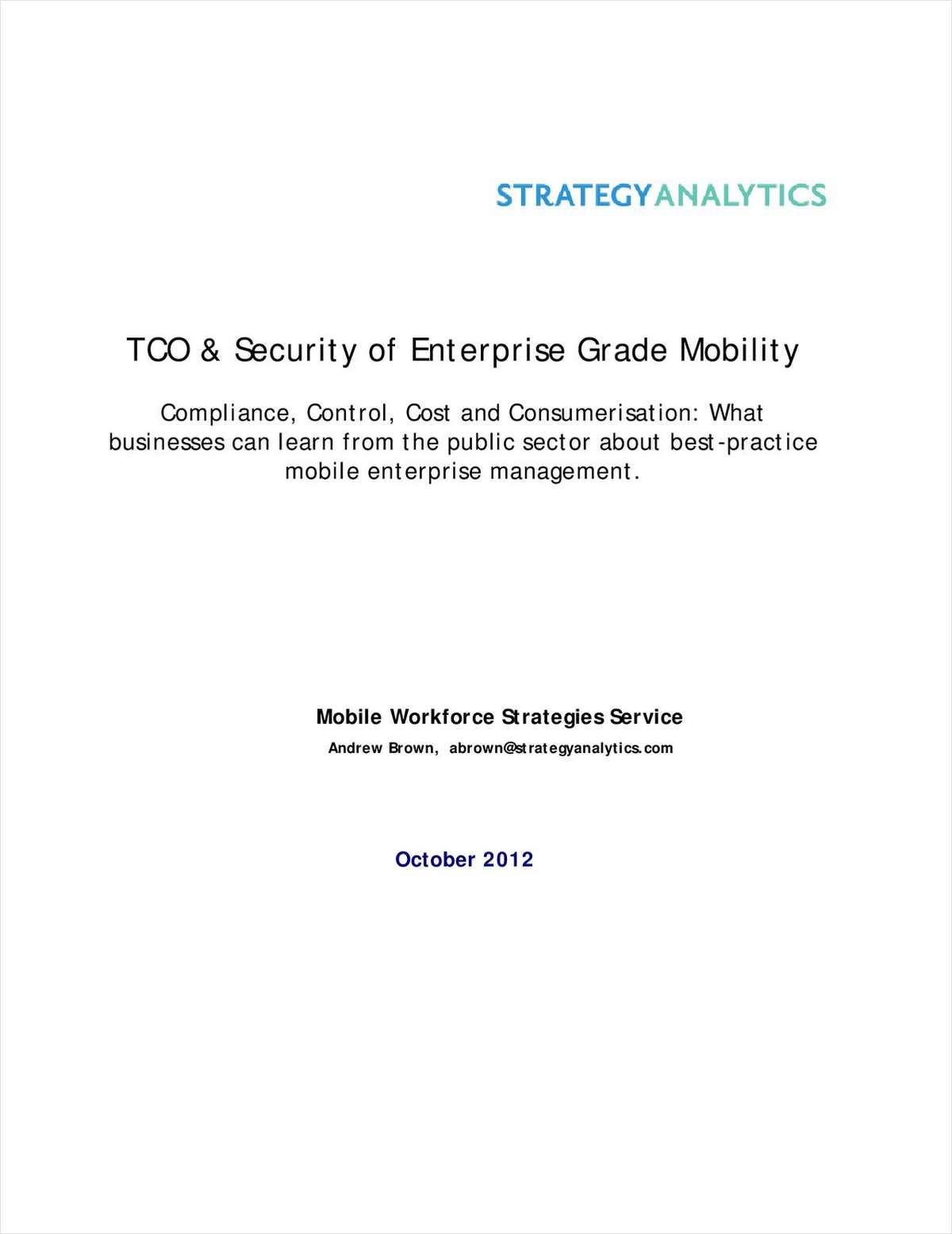 Research Report: How the Major Mobility Platforms Compare in TCO and Security