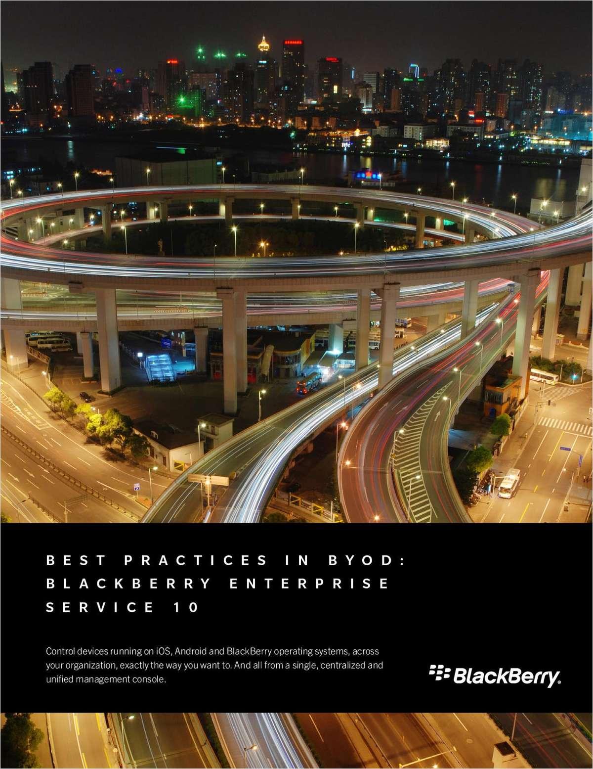 Best Practices in BYOD: BlackBerry Enterprise Service 10