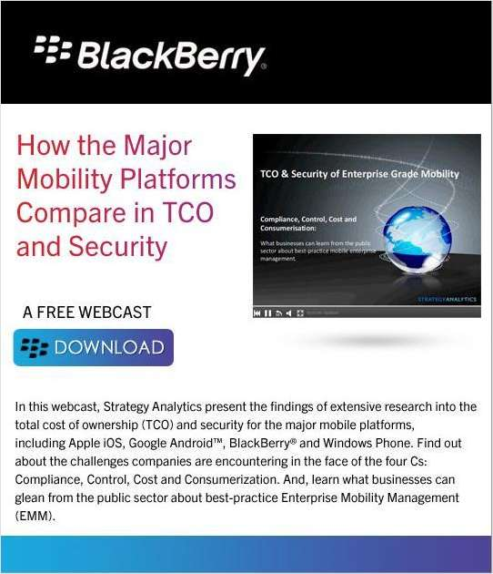 How the Major Mobility Platforms Compare in TCO and Security