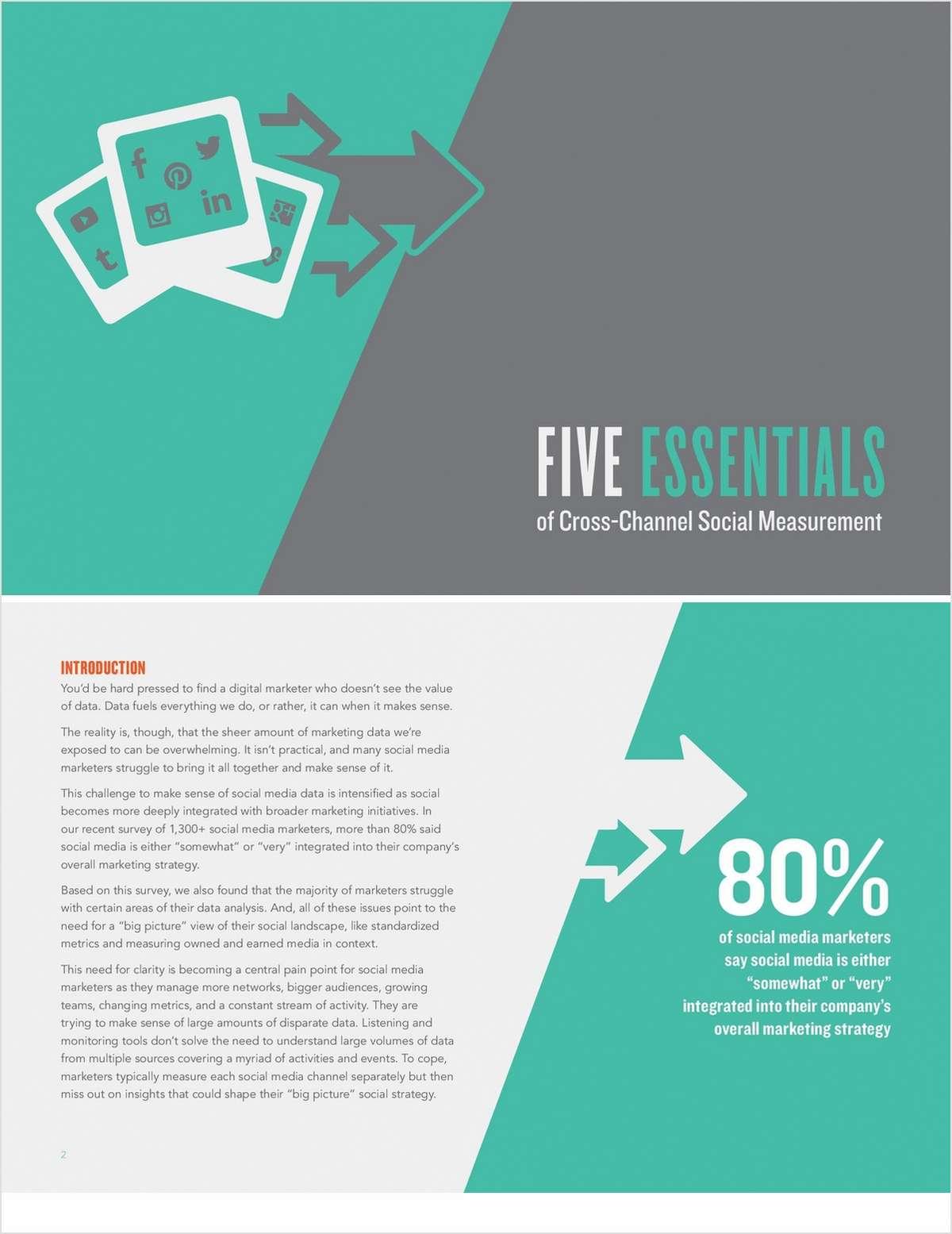 Five Essentials of Cross-Channel Social Measurement