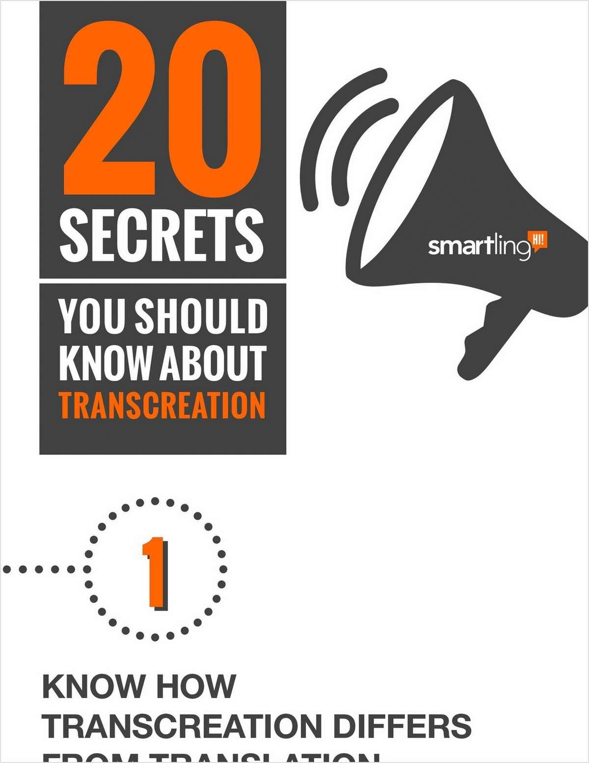 20 Secrets You Should Know About Transcreation