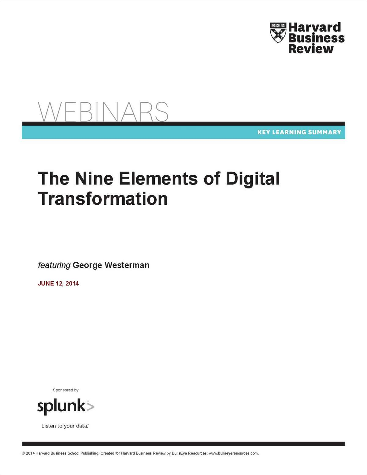 The 9 Elements of Digital Transformation