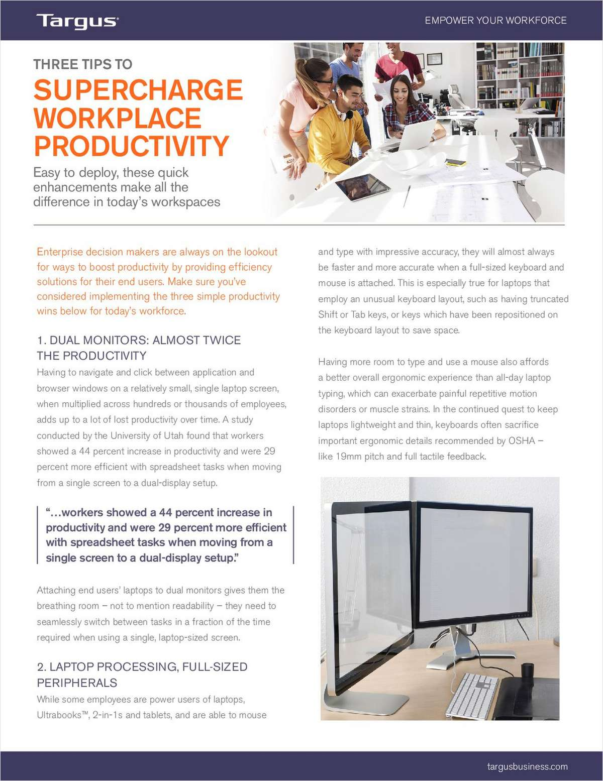 Top Three Tips to Supercharge Workplace Productivity