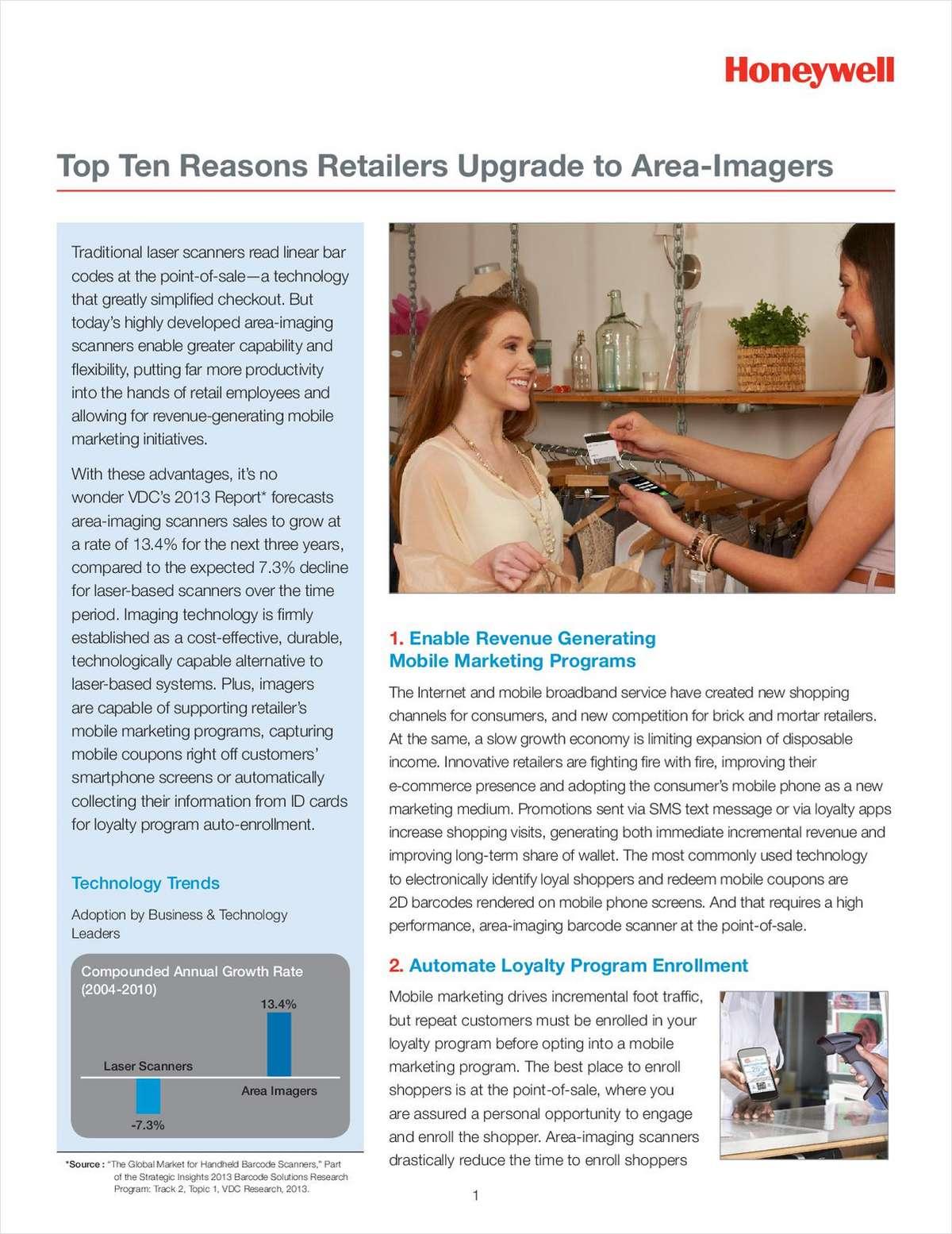 Top Ten Reasons Retailers Upgrade to Area-Imagers