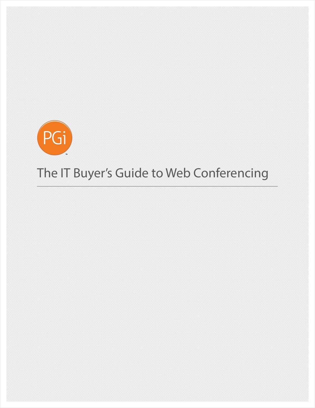 IT Buyer's Guide to Web Conferencing