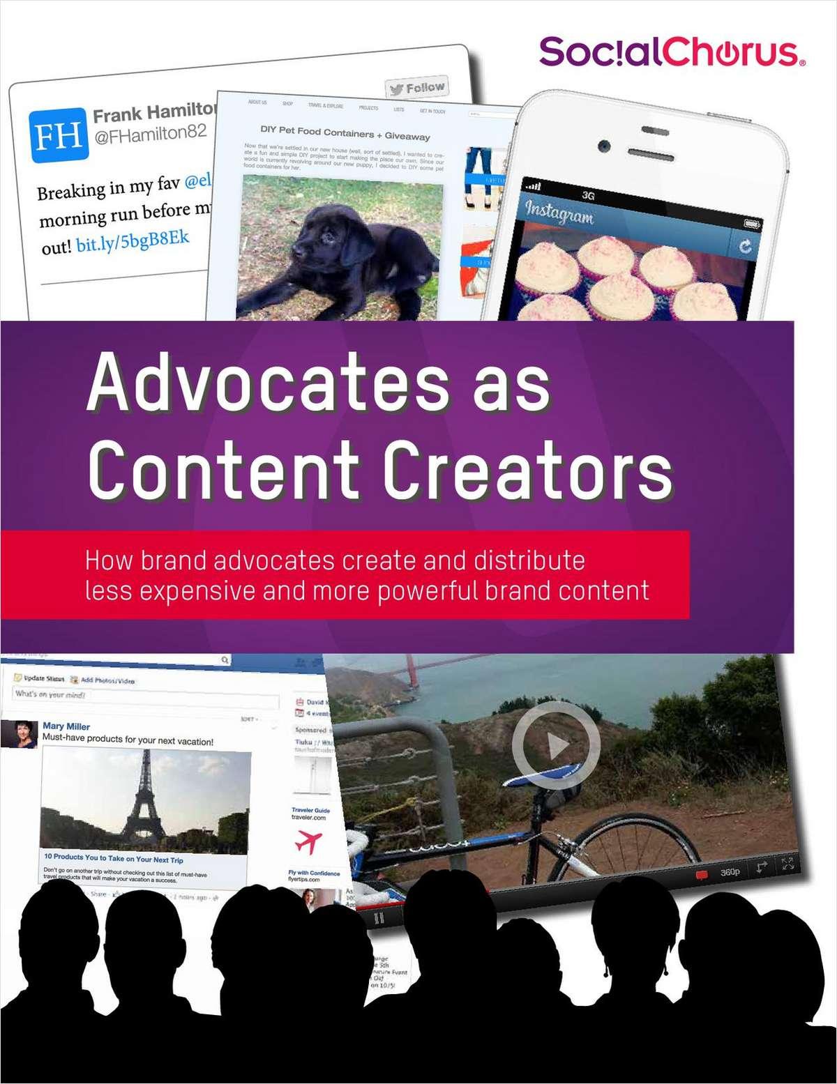Power Brand Advocates to be Content Creators
