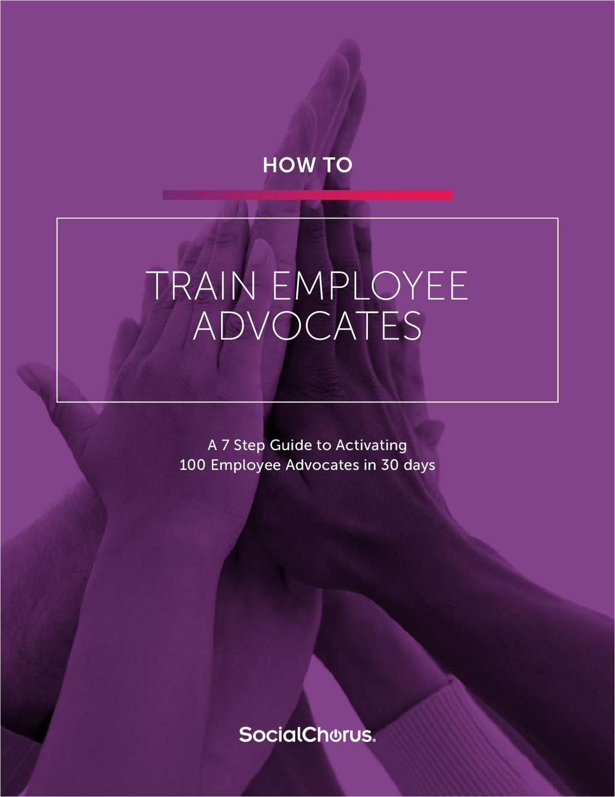 How to Train Employee Advocates
