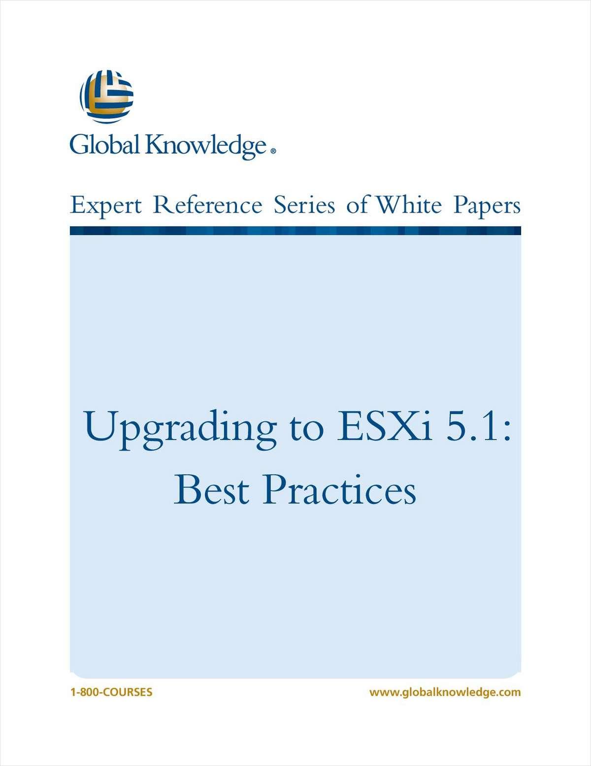 Upgrading to ESXi 5.1 - Best Practices