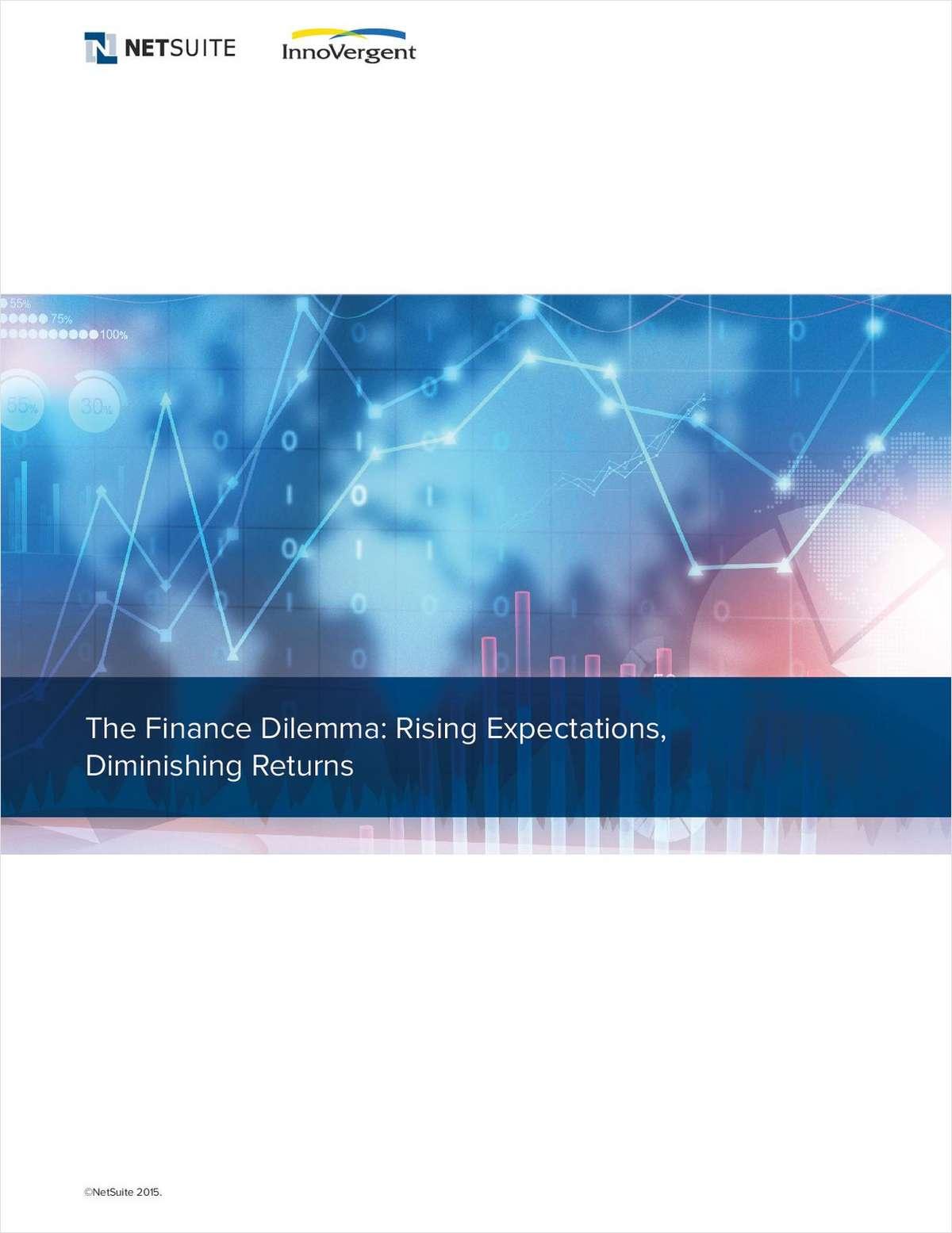 The Finance Dilemma: Rising Expectations, Diminishing Returns