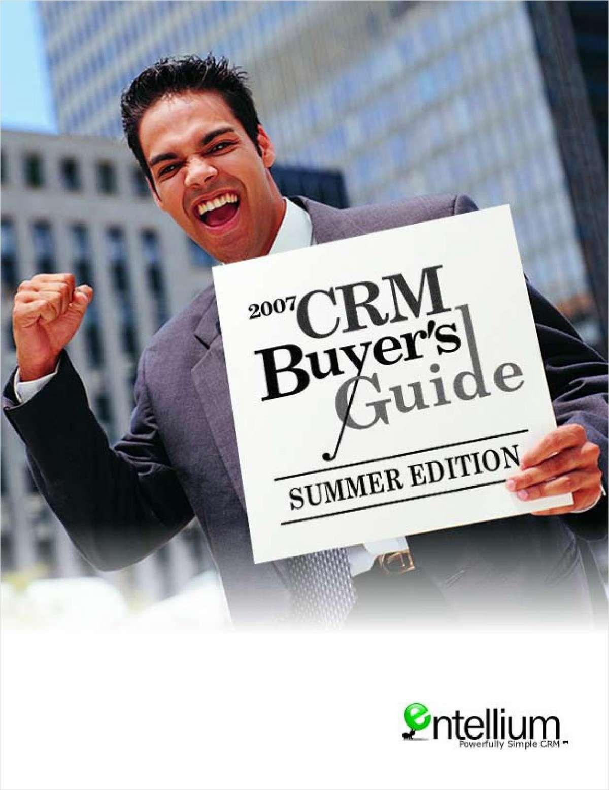 Entellium CRM Buyer's Guide