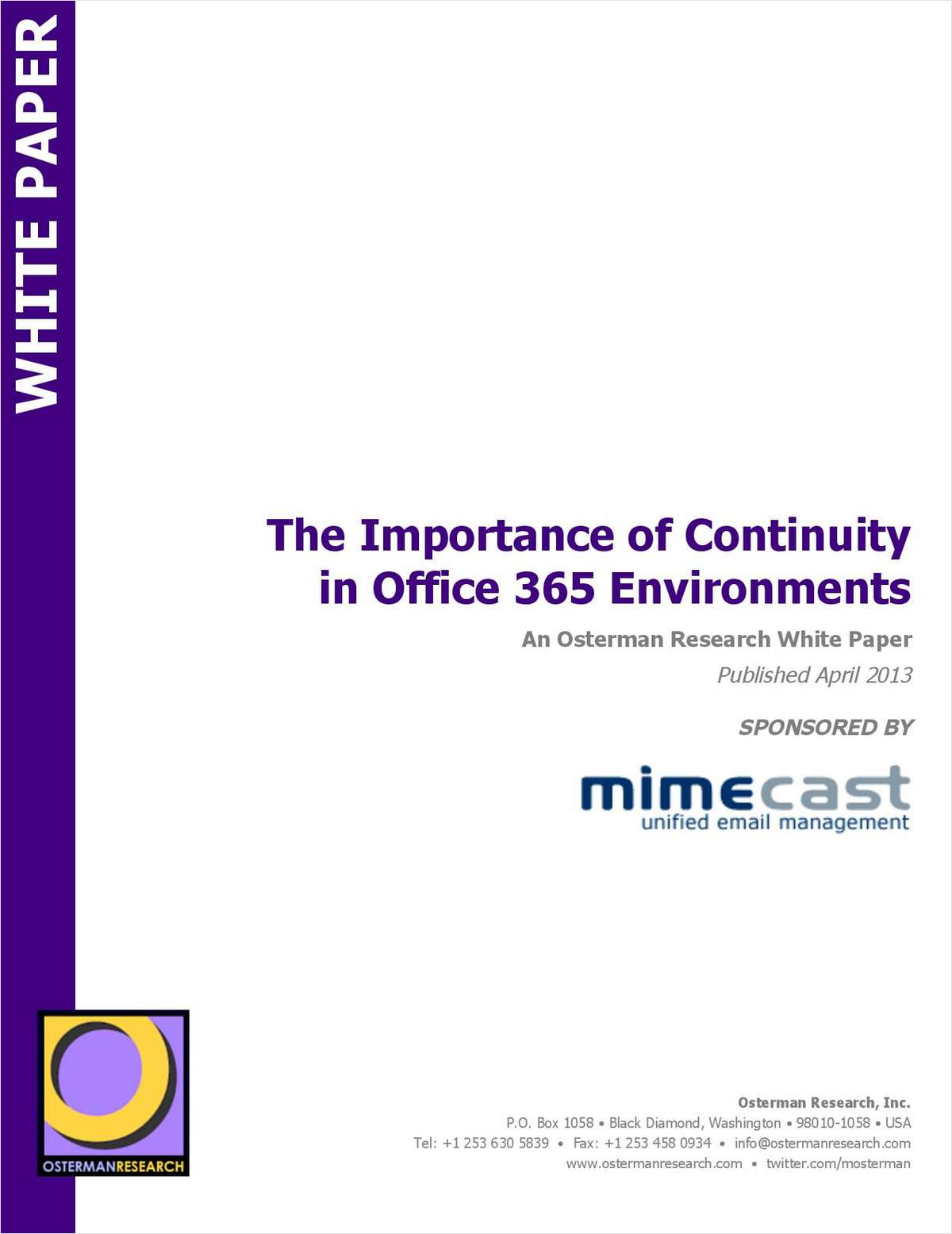 The Importance of Continuity in Office 365 Environments
