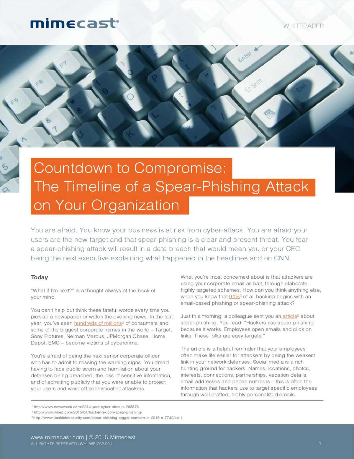 Countdown to Compromise: The Timeline of a Spear-Phishing Attack on Your Organization