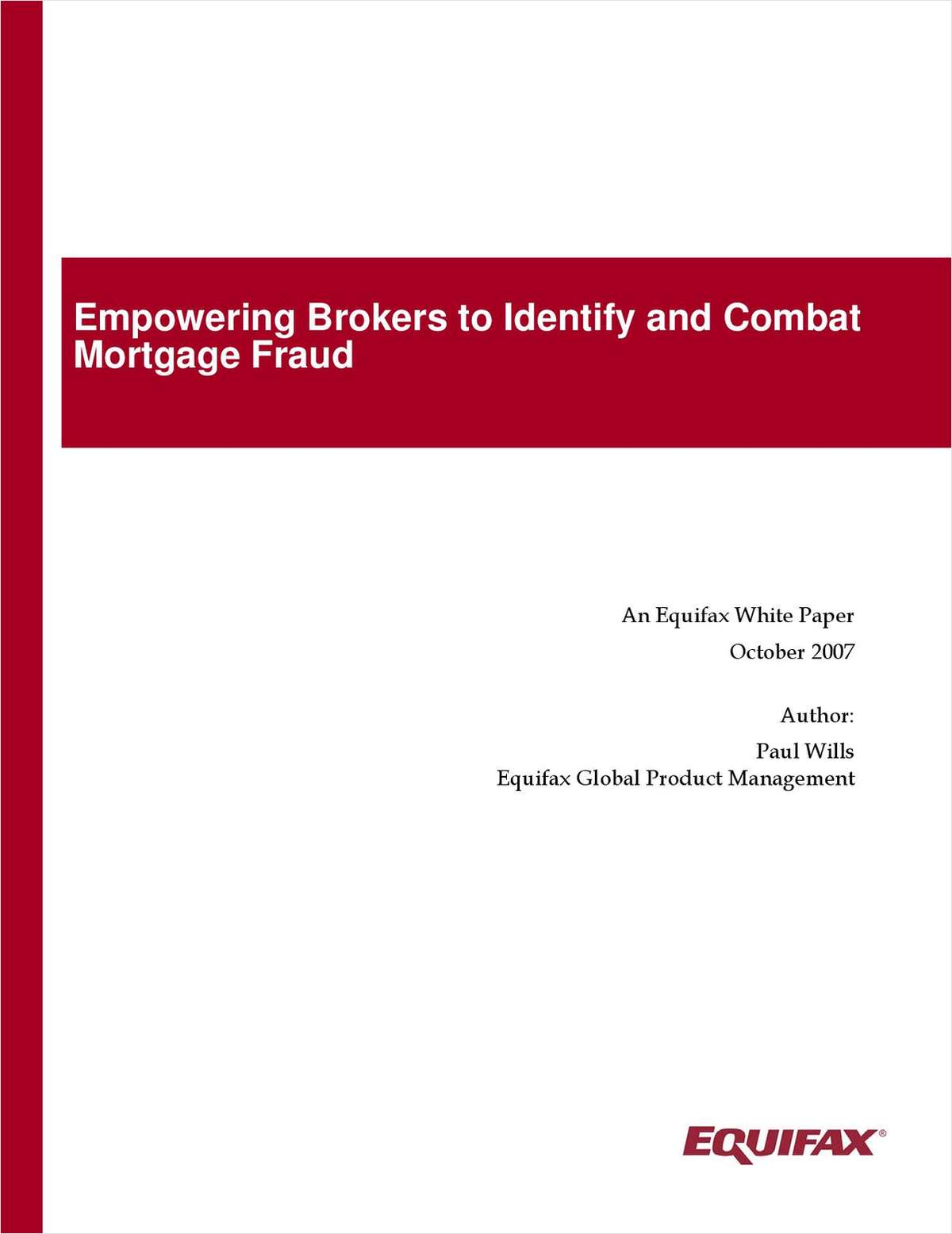 Empowering Brokers to Identify and Combat Mortgage Fraud