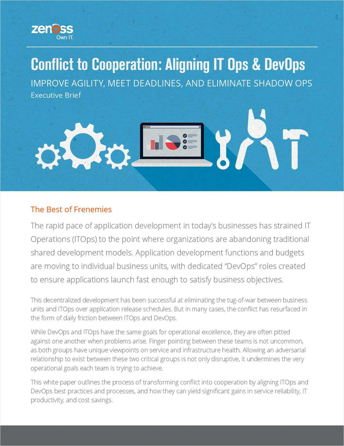 Conflict to Cooperation: Aligning IT Ops & DevOps