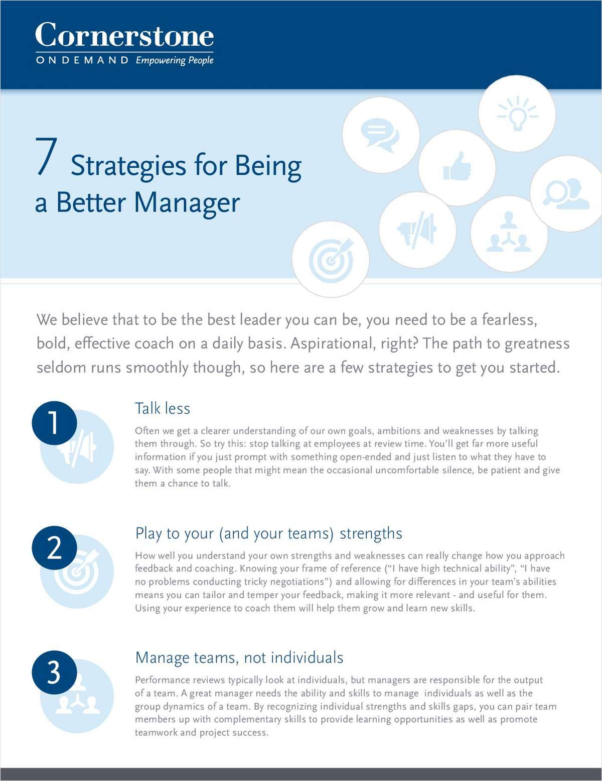 7 Strategies for Being a Better Manager