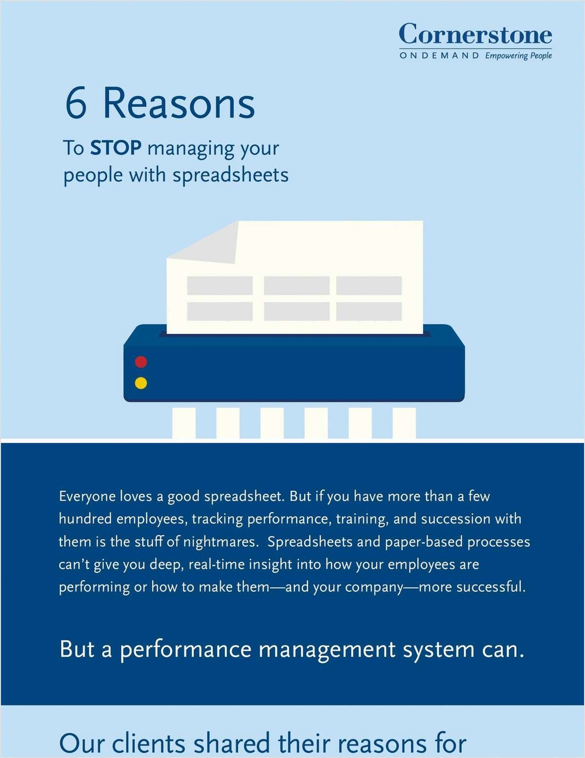 6 Reasons to Stop Managing Your People with Spreadsheets