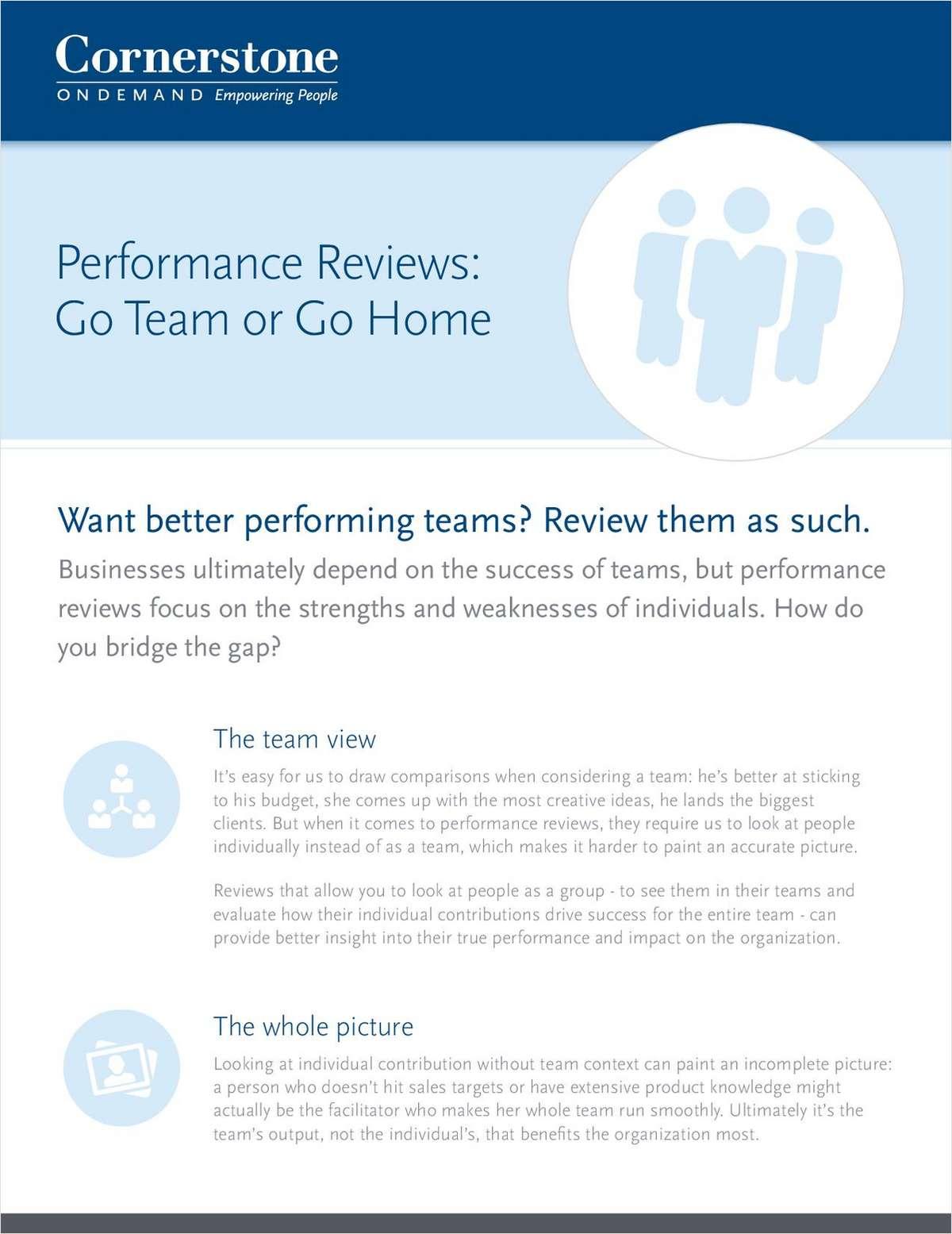 Performance Reviews: Go Team or Go Home