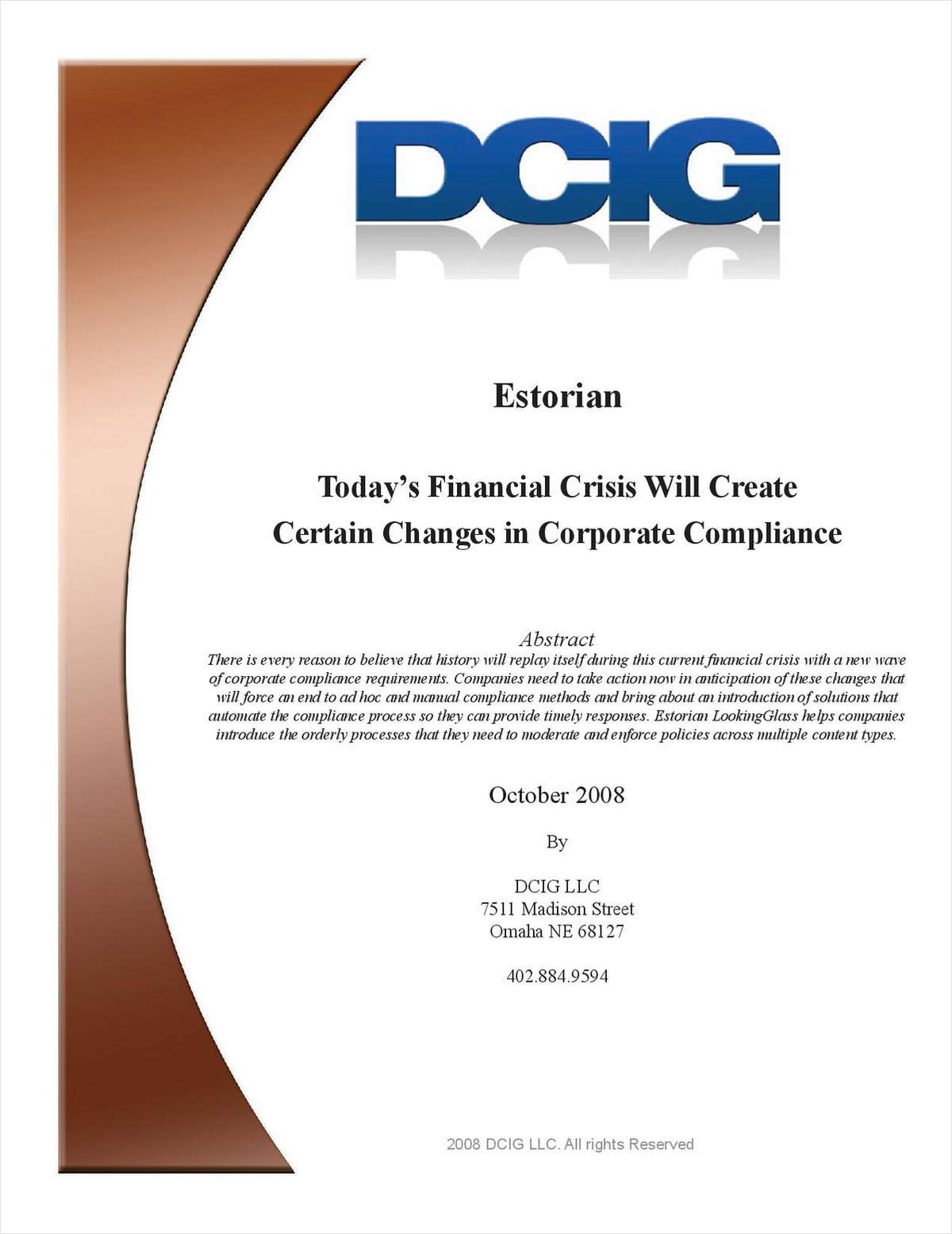 Today's Financial Crisis and the Impact on Corporate Compliance