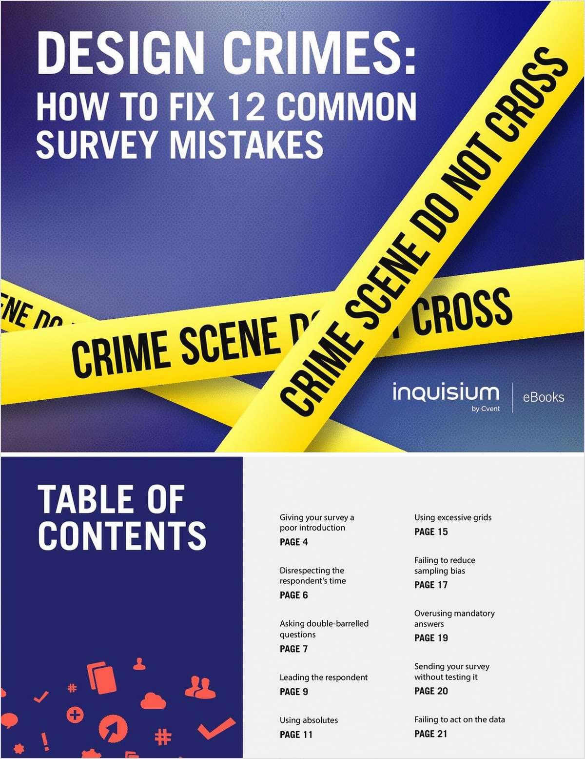 Design Crimes: How to Fix 12 Common Survey Mistakes