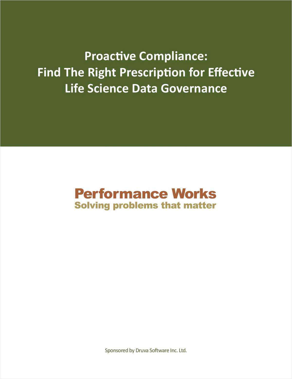 Proactive Compliance: Find The Right Prescription for Effective Life Science Data Governance