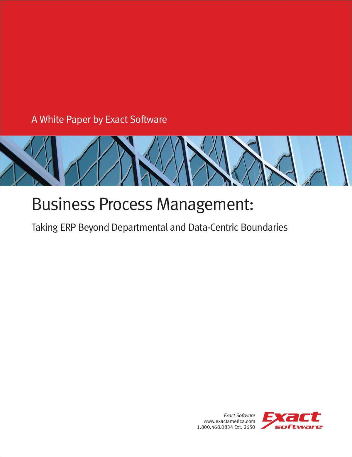 Business Process Management: Taking ERP Beyond Departmental and Data-Centric Boundaries