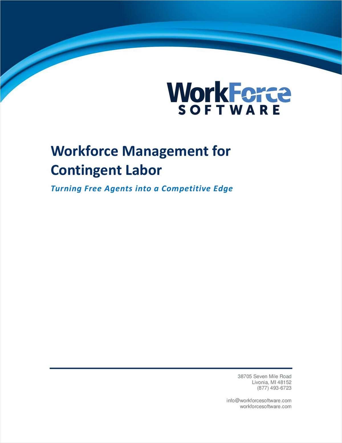Workforce Management for Contingent Labor