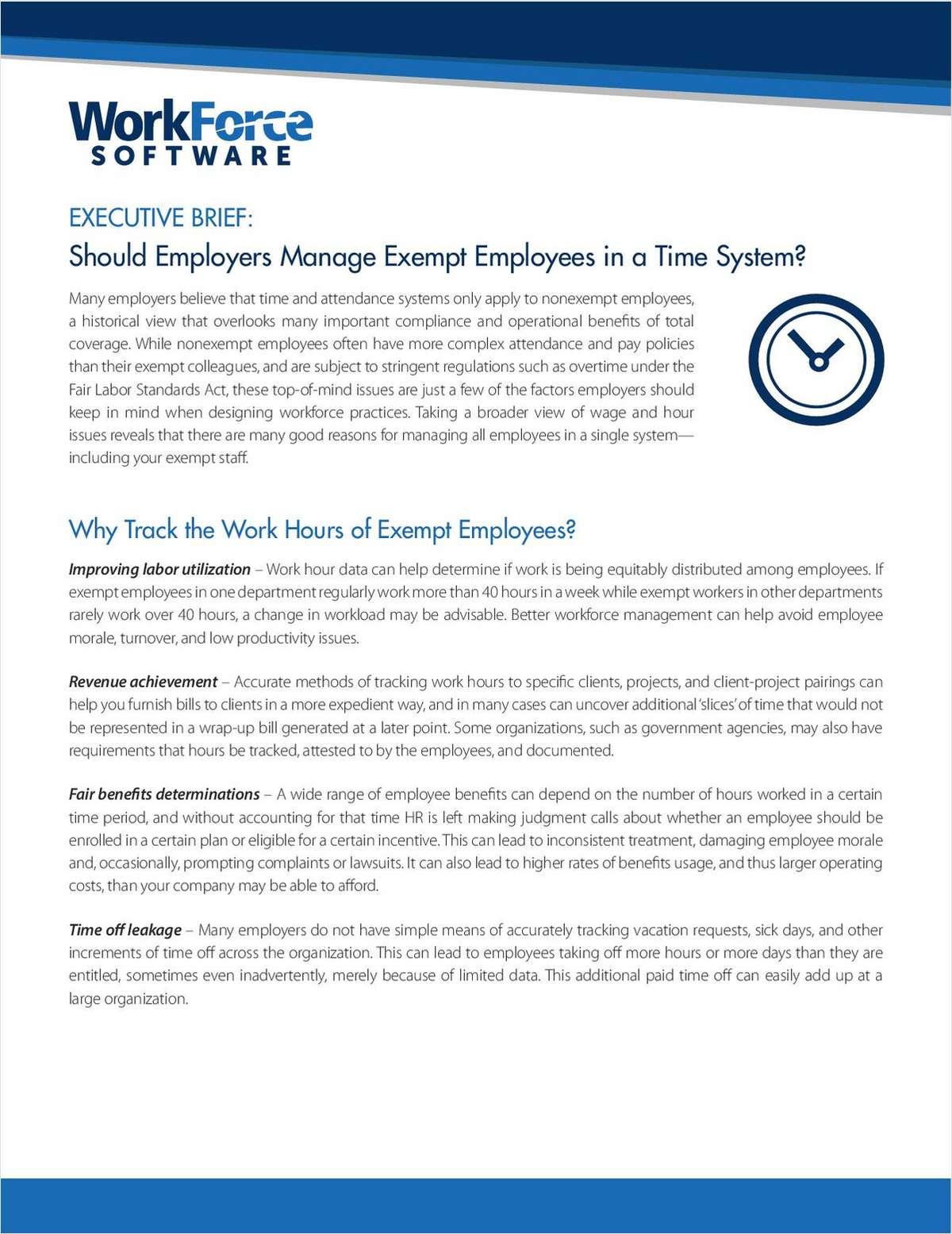 How to Manage Exempt Employees: A White Paper For Employers