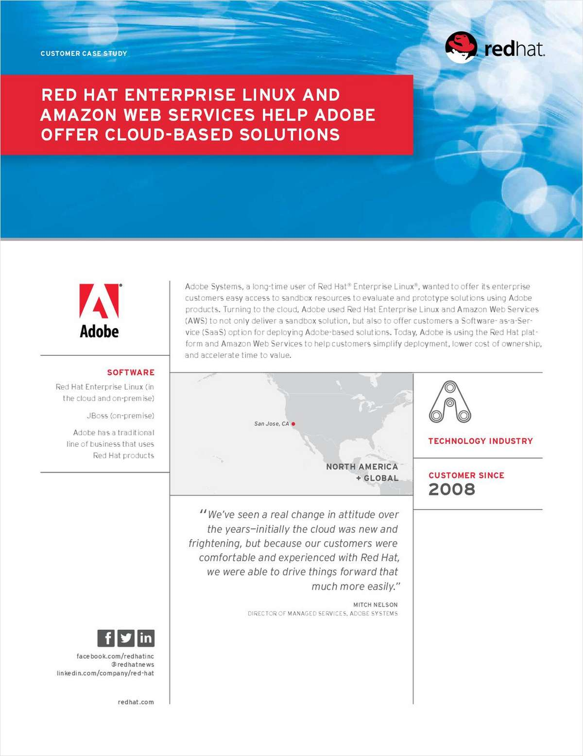 Red Hat Enterprise Linux and Amazon Web Services Help Adobe Offer Cloud-Based Solutions