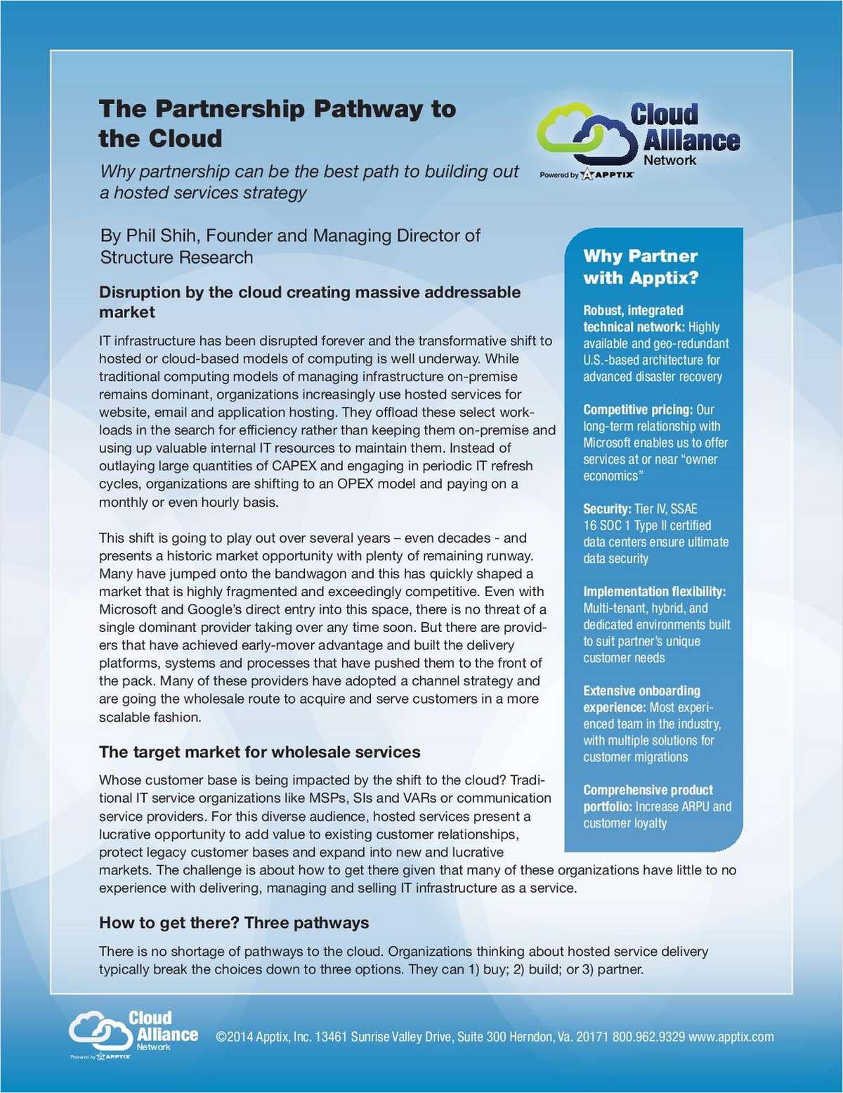 The Partnership Pathway to the Cloud