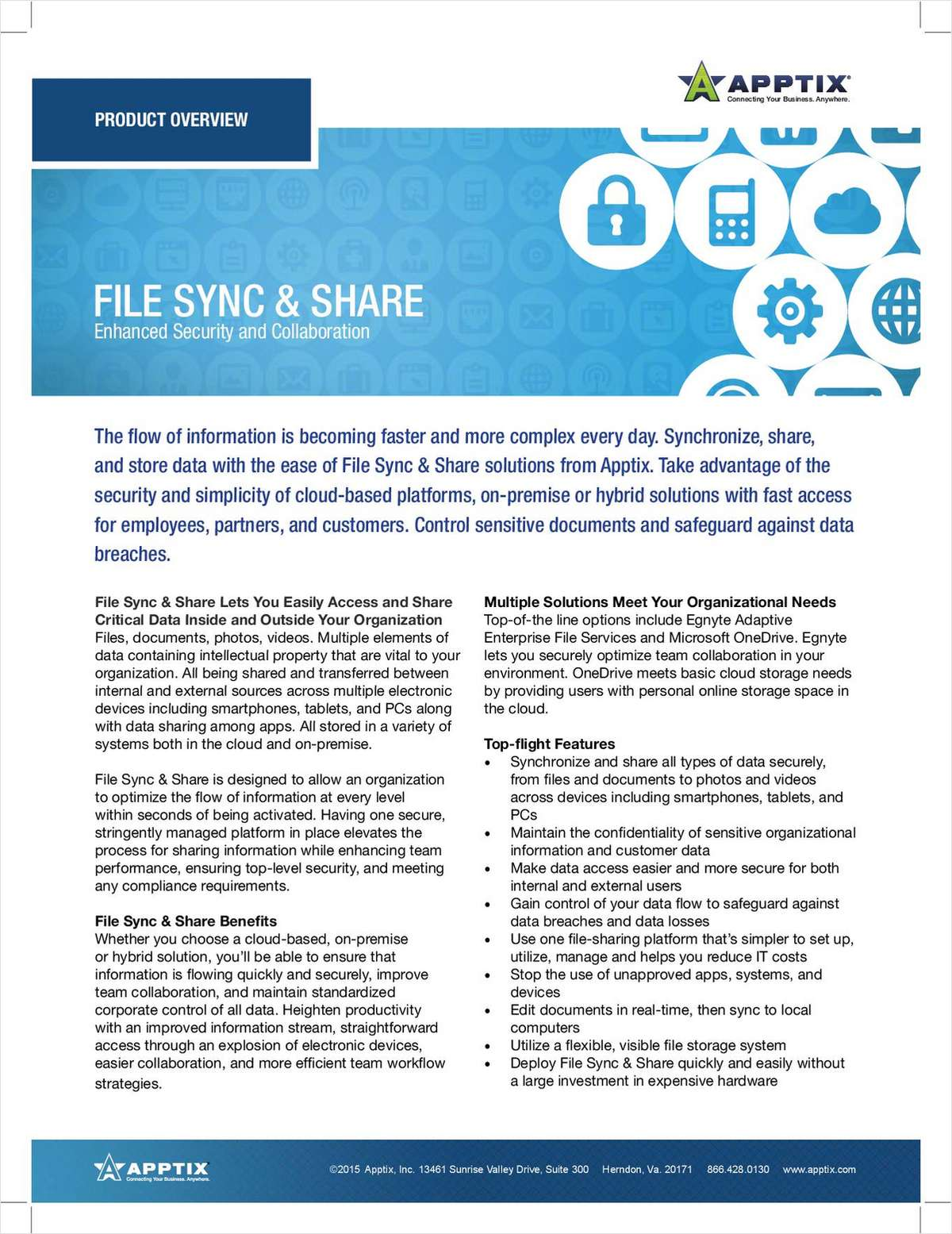 File Sync & Share Lets You Easily Access and Share Critical Data Inside and Outside Your Organization