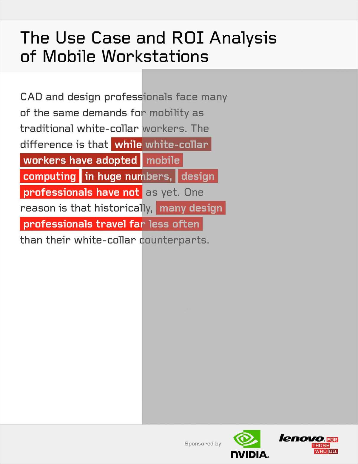 The Use Case and ROI Analysis of Mobile Workstations