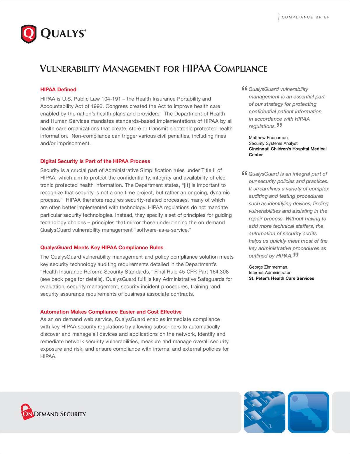 Vulnerability Management for HIPAA Compliance