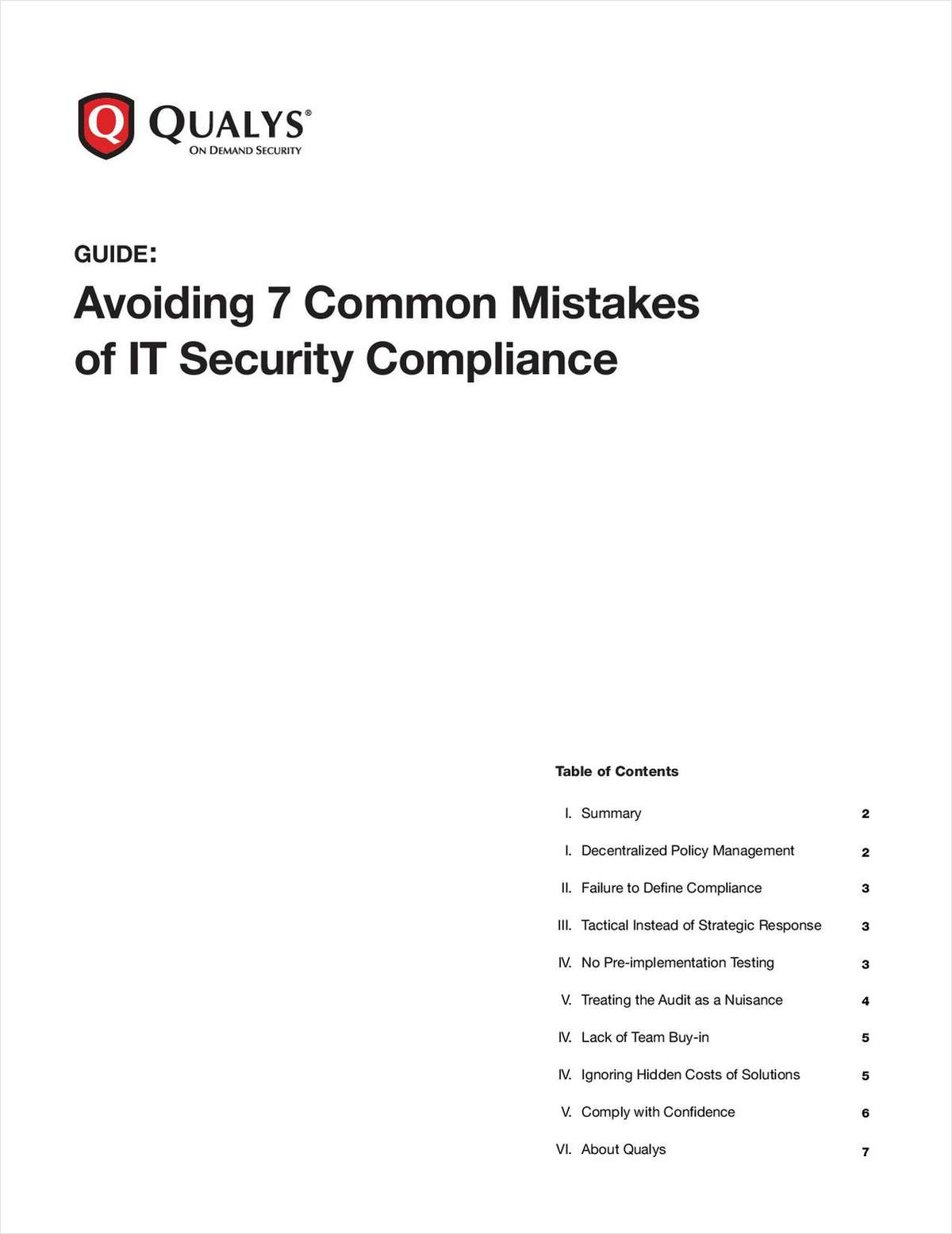 Avoiding 7 Common Mistakes of IT Security Compliance