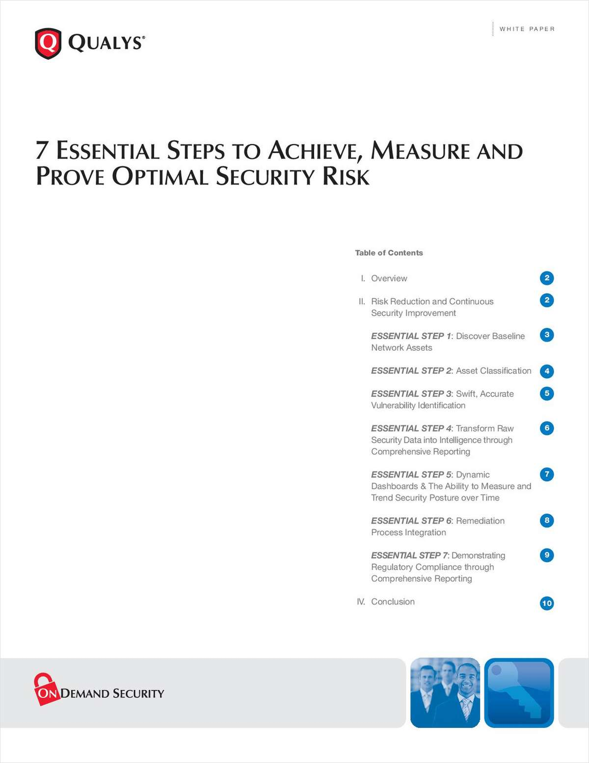 7 Essential Steps to Achieve, Measure and Prove Optimal Security Risk Reduction