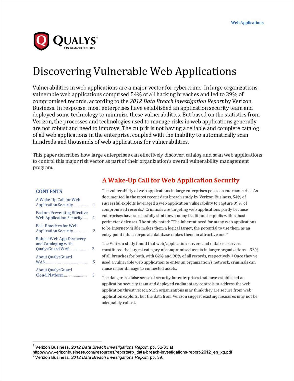 Discovering Vulnerable Web Applications