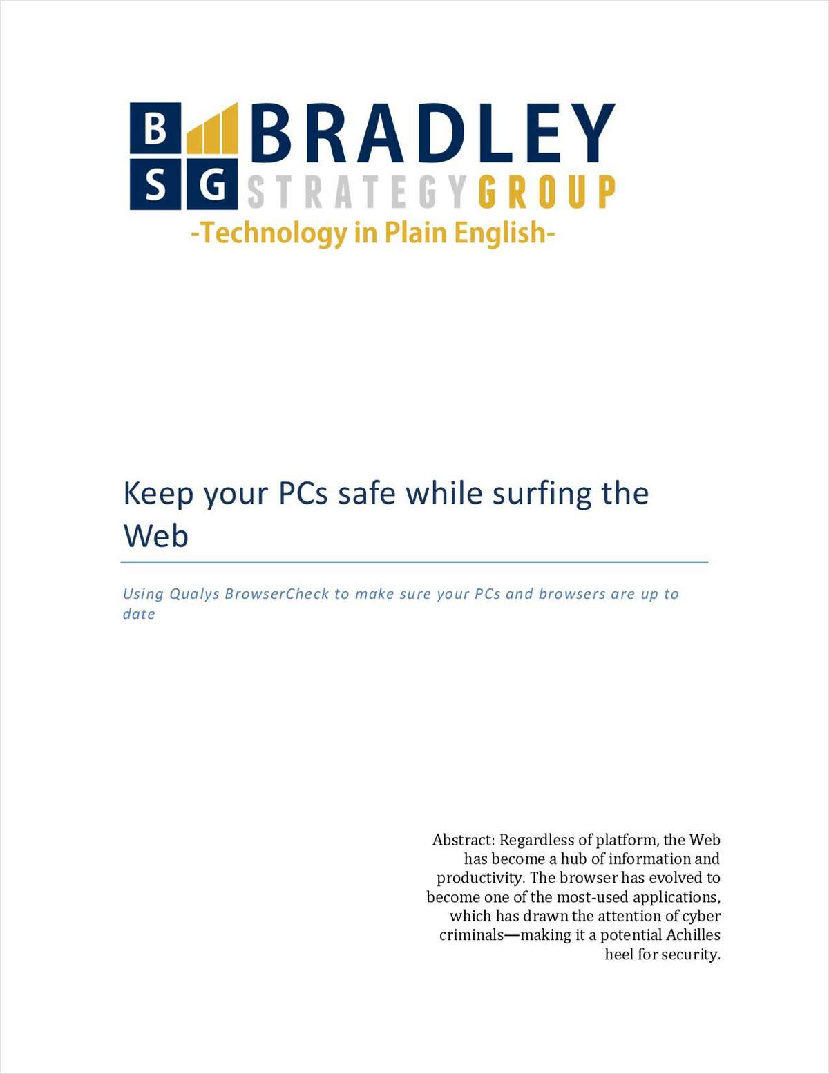 Keep Your PCs Safe while Surfing the Web