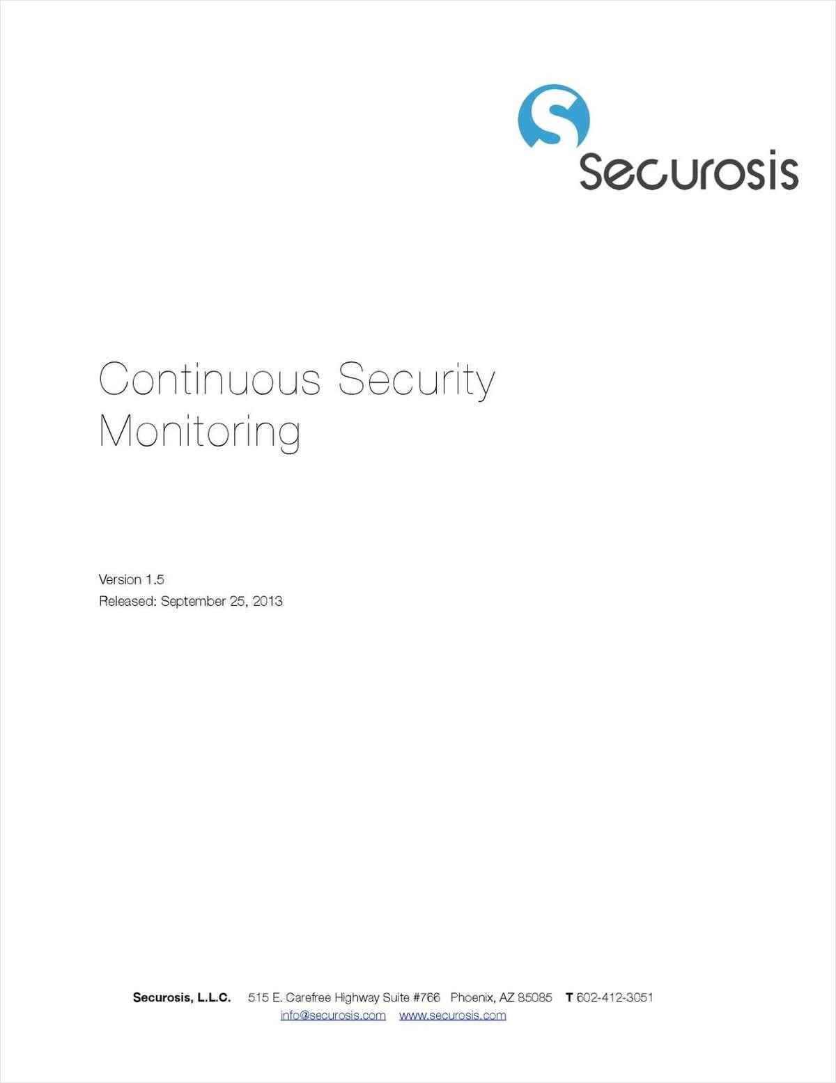 Continuous Security Monitoring (CSM)