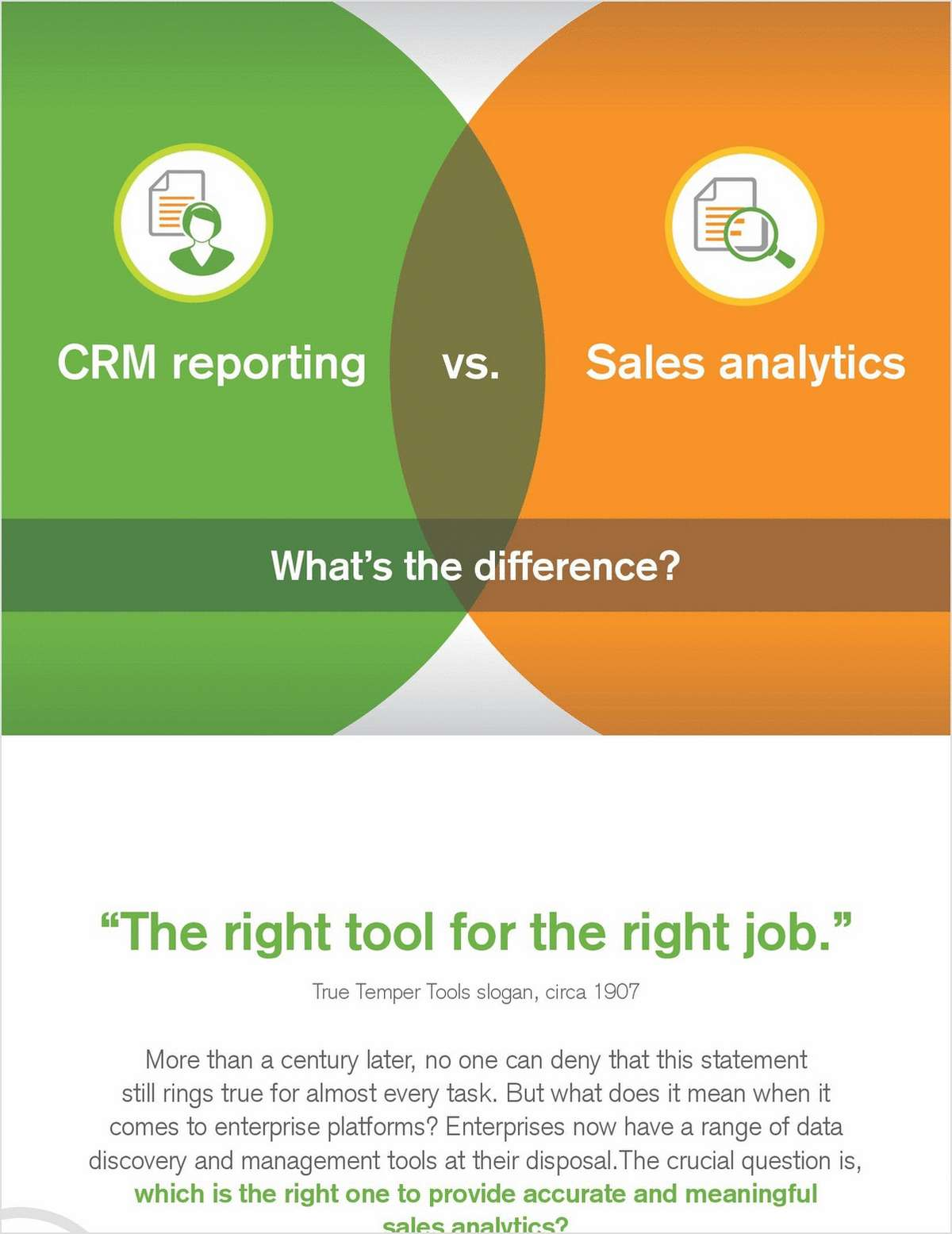 Is there a difference between CRM reporting and sales analytics?