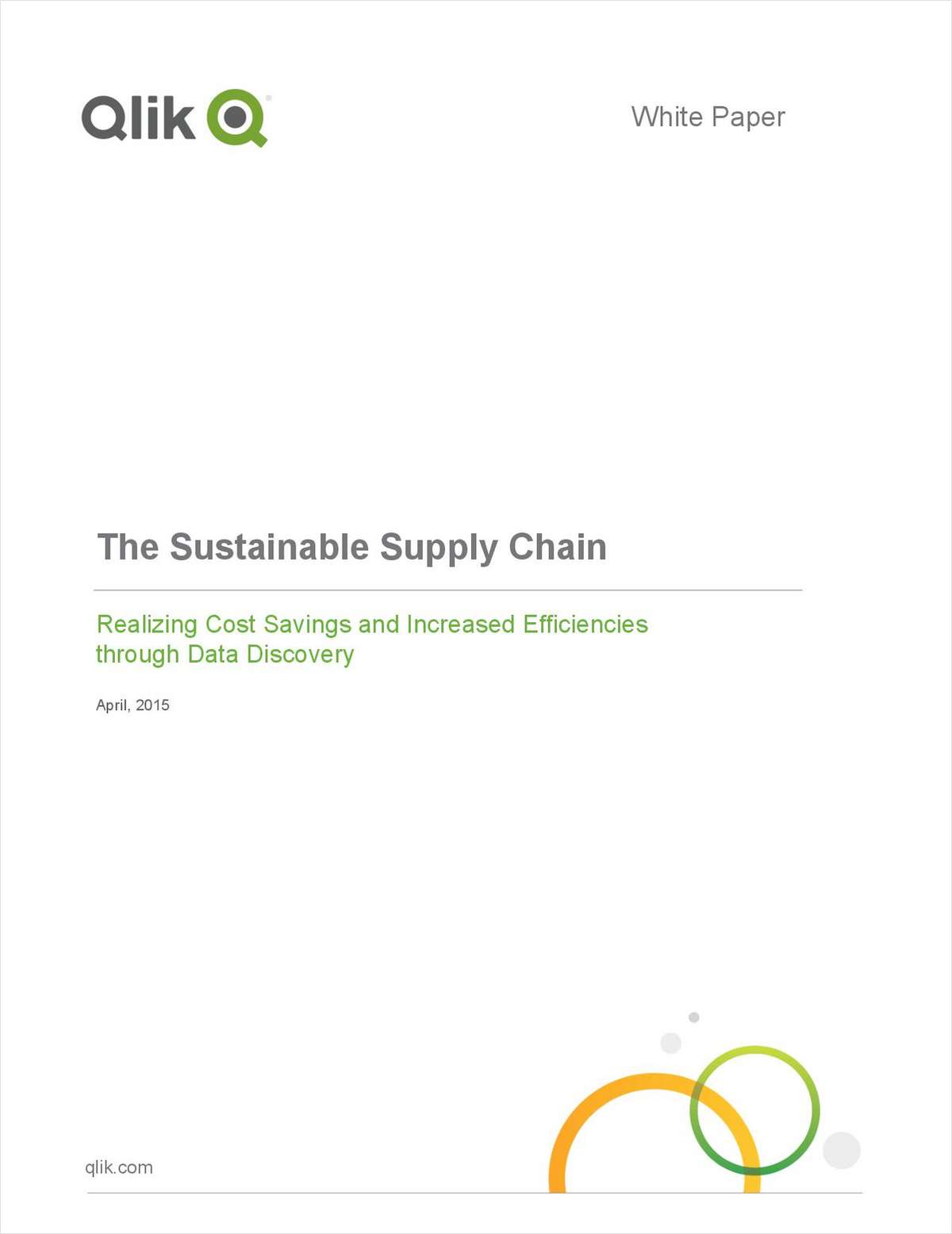 The Sustainable Supply Chain: Realizing Costs Savings and Increased Efficiencies Through Data Discovery