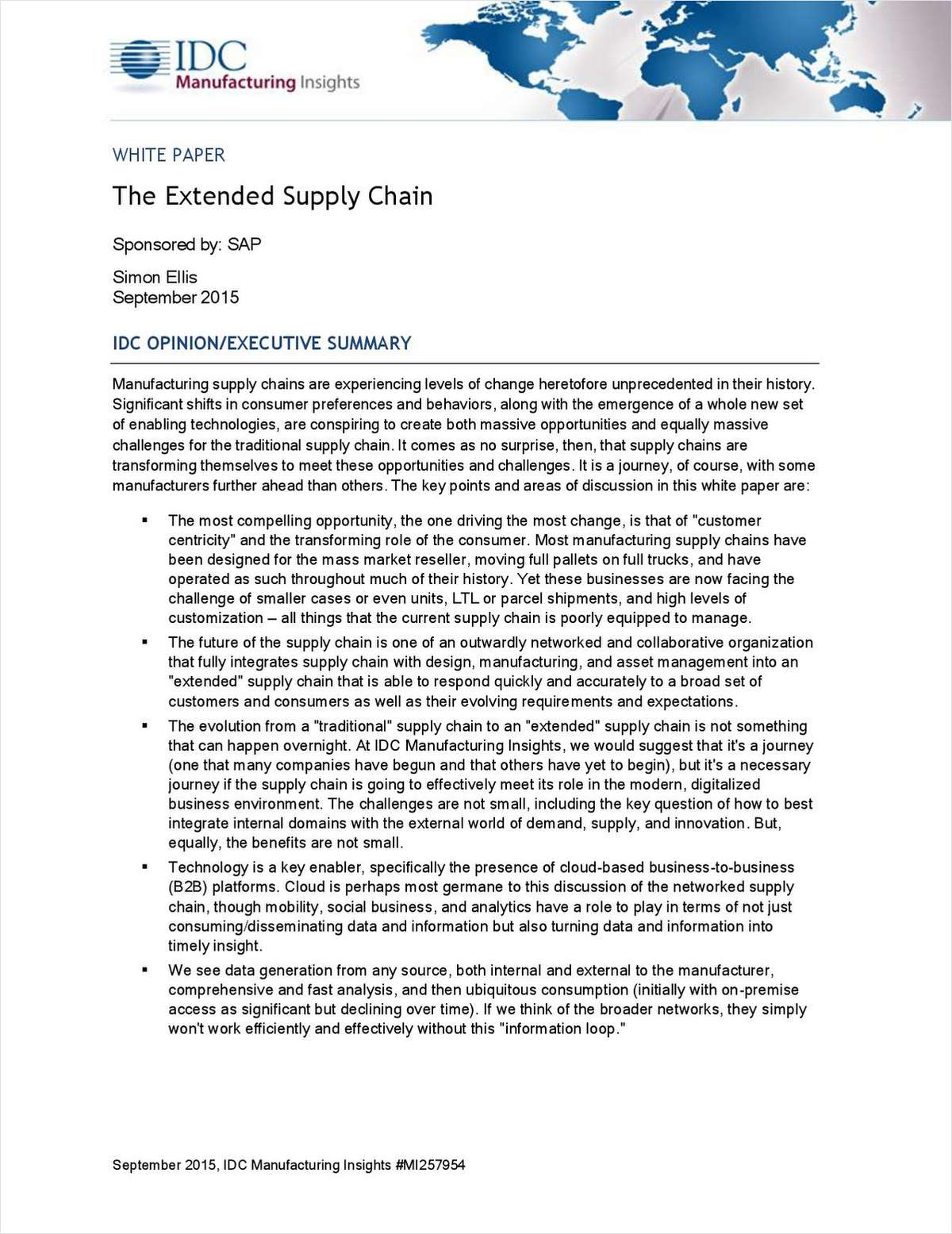 IDC: The Extended Supply Chain