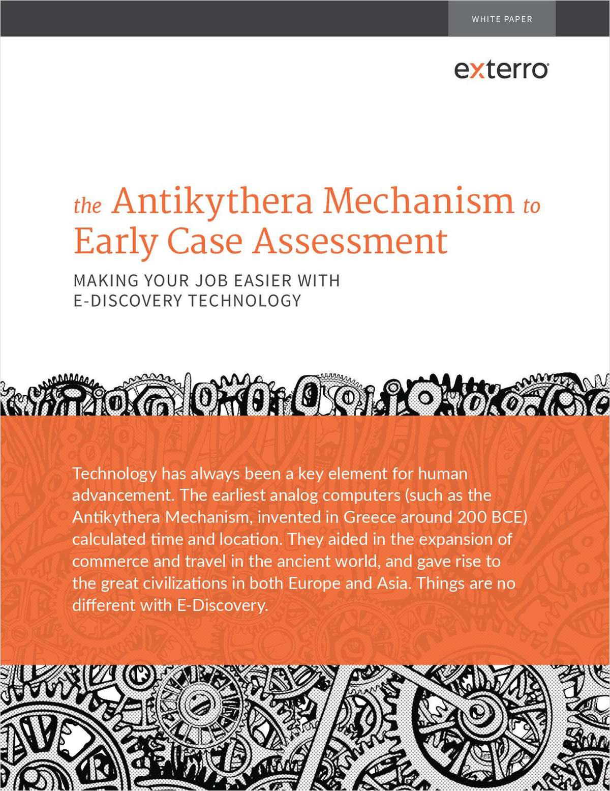 Antikythera Mechanism to ECA: Making Your Job Easier with E-Discovery Technology