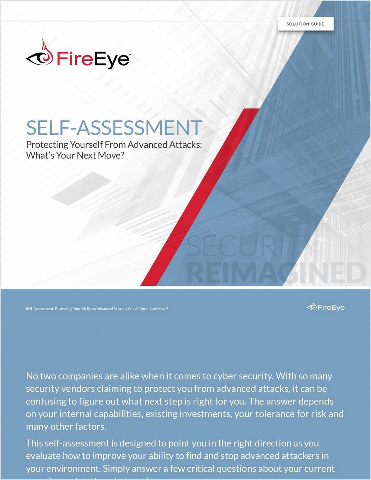 Self-Assessment - Protecting Yourself From Advanced Attacks: What's Your Next Move?