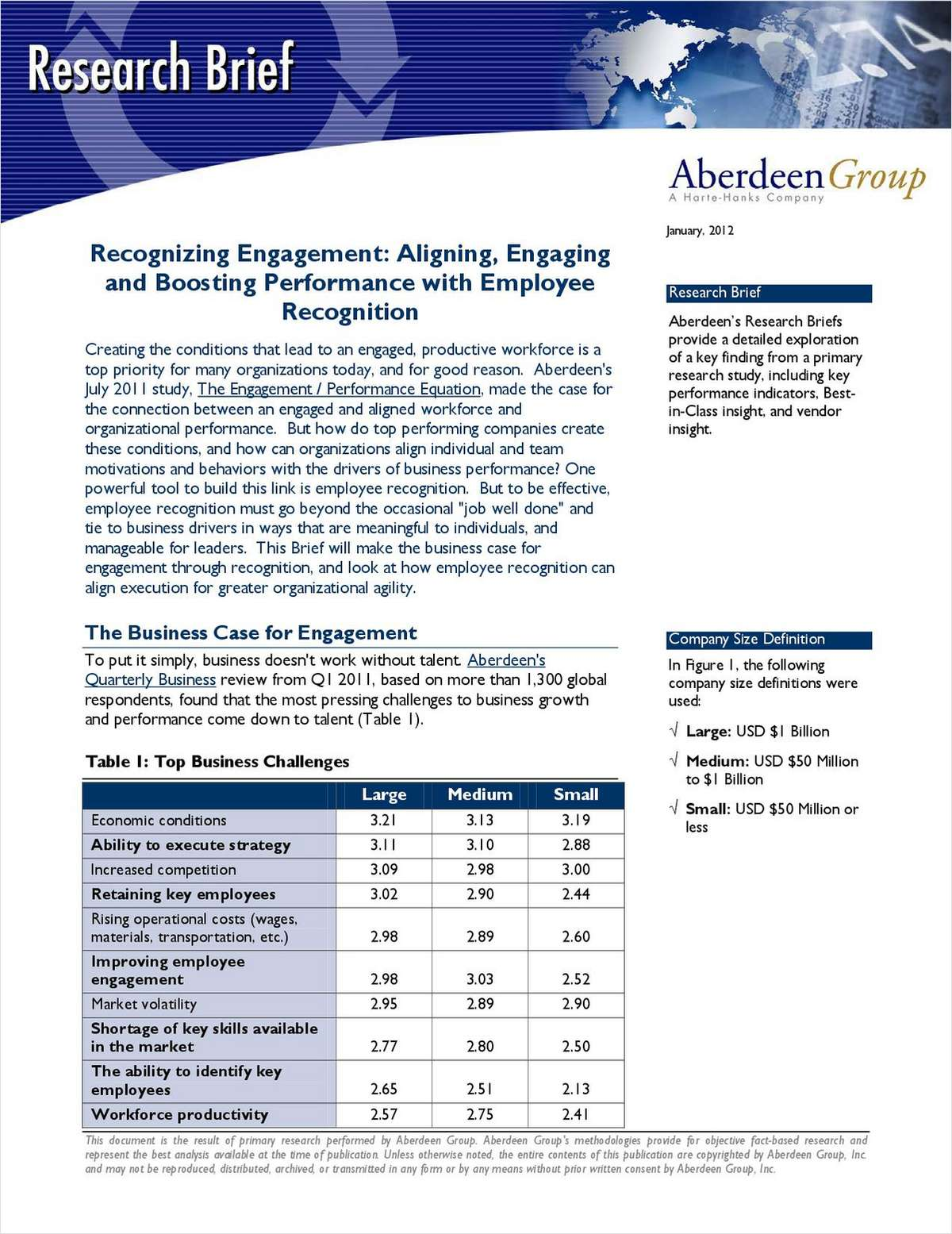 Aberdeen Report: 3 Proven Ways to Boost Employee Performance