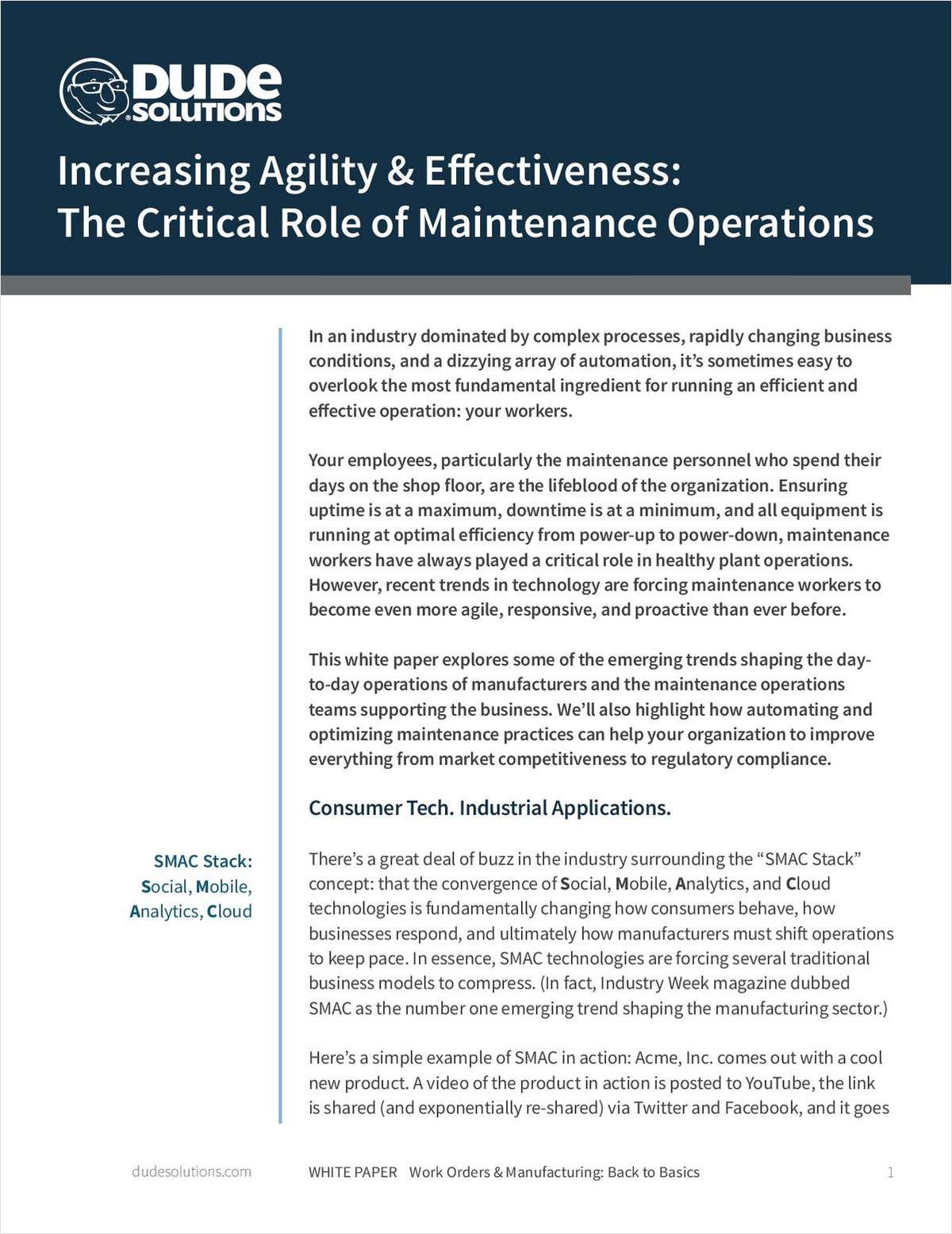 Increasing Agility & Effectiveness: The Critical Role of Maintenance Operations