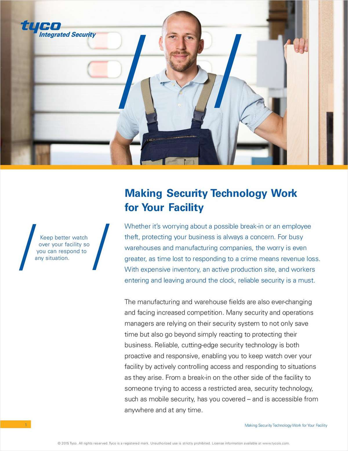Making Security Technology Work for your Facility