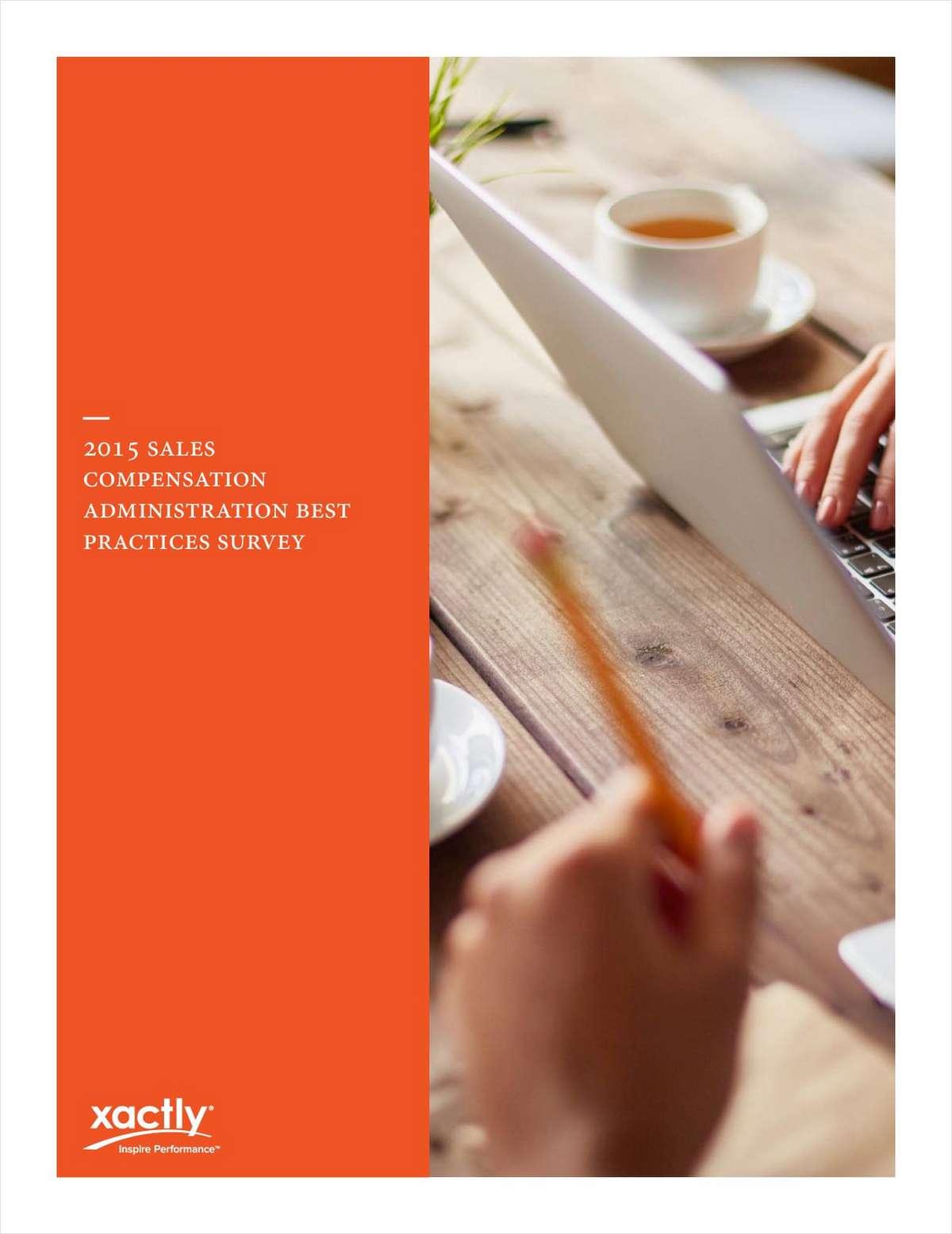 Sales Compensation Administration Best Practices Survey
