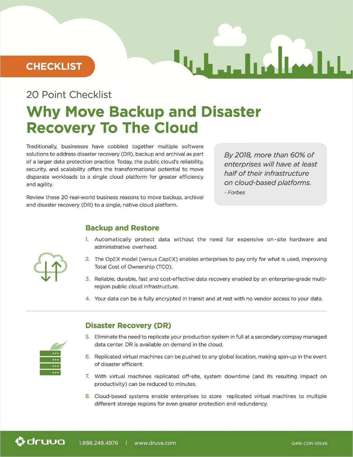 Checklist: Why Move Backup and Disaster Recovery to the Cloud