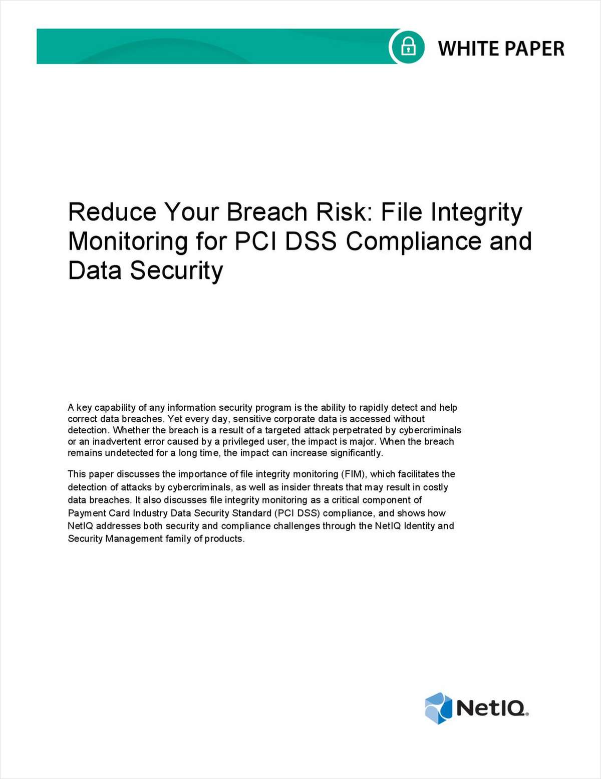 Reduce Your Breach Risk with File Integrity Monitoring